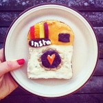Check out artist Idafrosk's food art and book on Amazon for inspiring Instagram photo ideas!